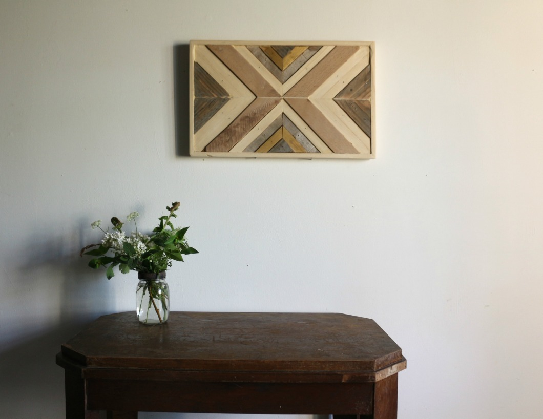 objet décoration en bois wallart