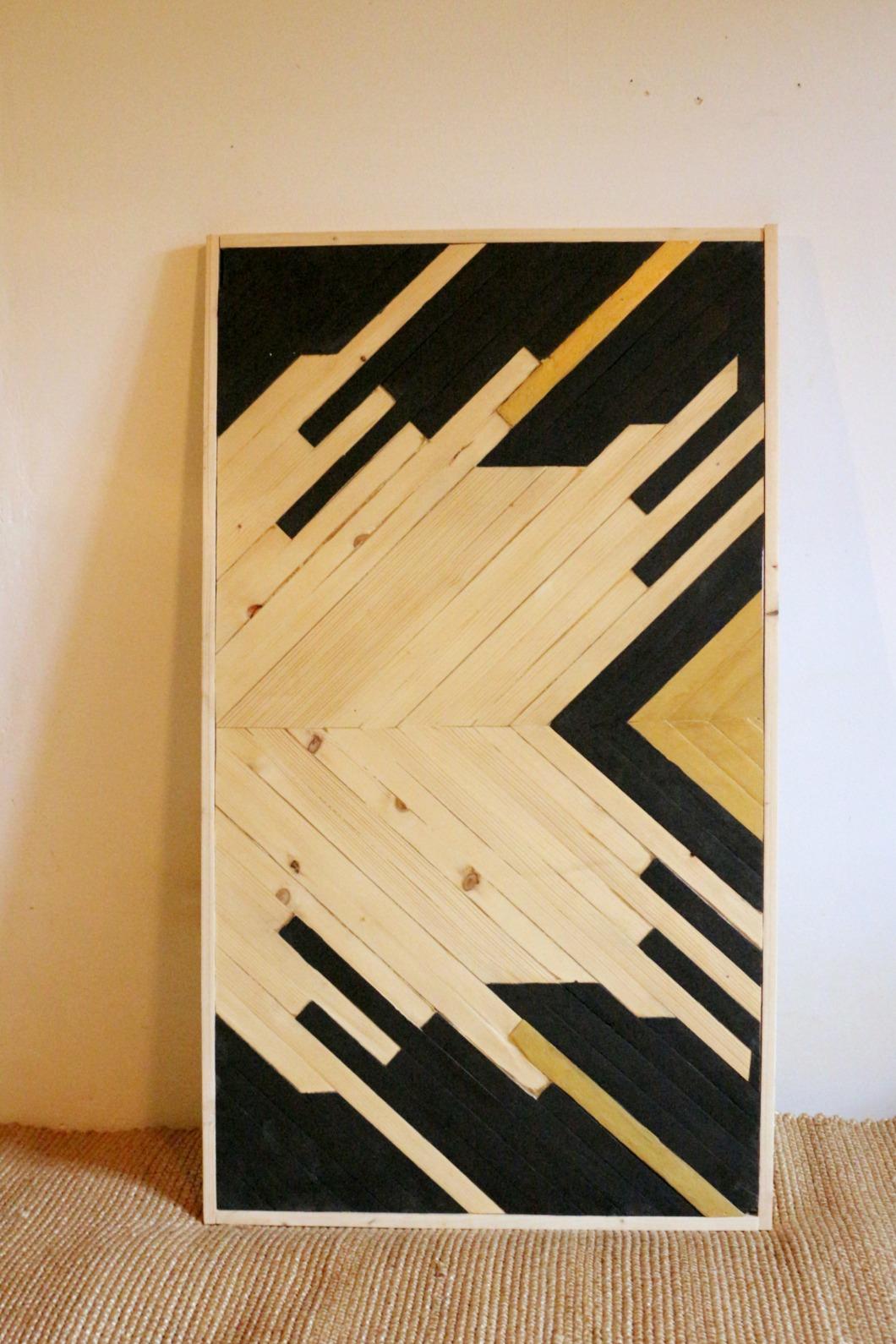 marqueterie contemporaine tableau en bois