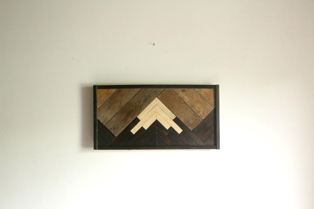 Tableau en bois montagne birke studio bois brûlé